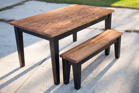 5 Solid Wood Farmhouse Table with Tapered Legs by EmmorWorks
