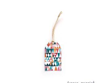Watercolour Geometric Gift Tag