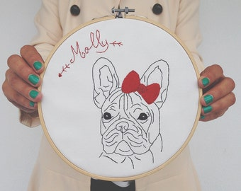 French Bulldogue Embroidery