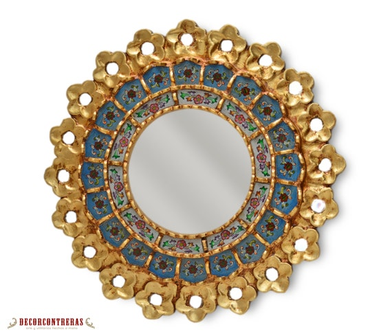 Handmade small decorative round wall mirror by decorcontreras Round decorative wall mirrors