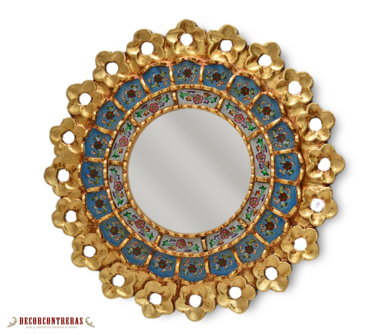 Handmade Small Decorative Round Wall Mirror By Decorcontreras