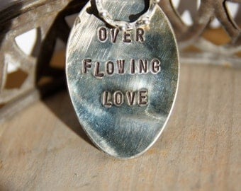 Hand stamped spoon pendant