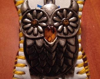 SALE Baseball Cuff with Decorative Owl