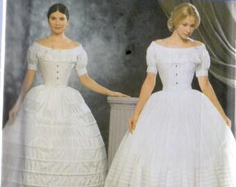 Fashion Historian Simplicity Pattern 9764 Civil War Era CRINOLINE & PETTICOAT  Misses 6 8 10 12