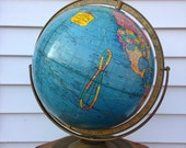 Rare Vintage Cram's Imperial 12 inch Table Globe with Full Meridian