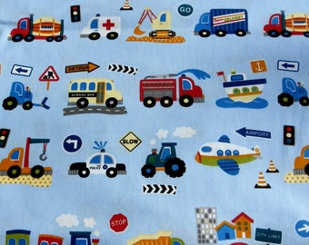 "Cotton ""Traffic Kids"" 1/2 Yard Hilco"