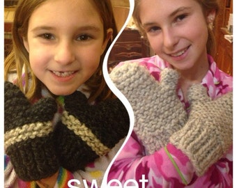 Wool Mittens for Kids