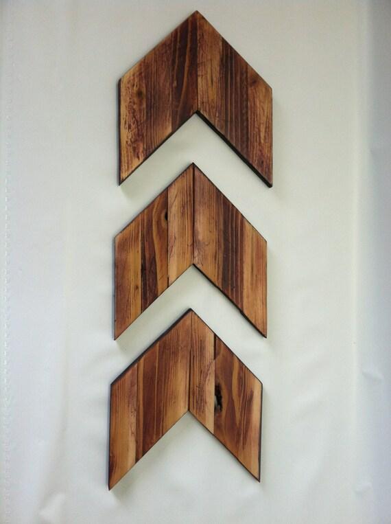 Chevron Wood Wall Decor : Items similar to wooden arrow wall art chevron