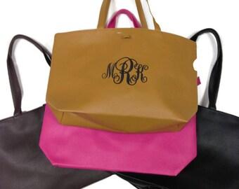 Monogram handbag /clutch fold over style Personalized