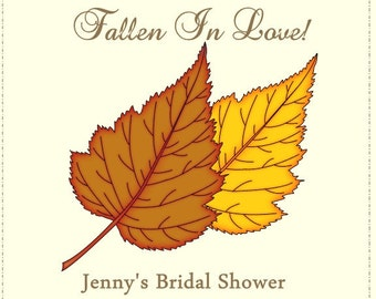 60 Fall Bridal Shower Favor Tags