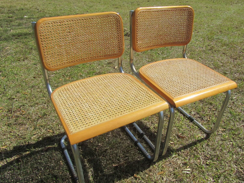 K Mid Century Danish Modern Chair Cantilever Chairwicker Chairdining Chair  Chrome Chairmodern Decorwood U2013 Haute Juice