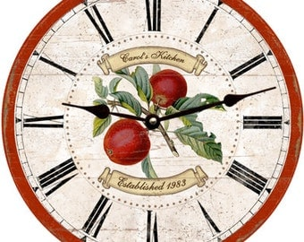 Apple Clock- Personalized Apple Clock