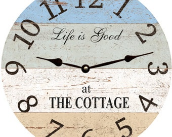 Cottage Clock- Personalized Cottage Clock