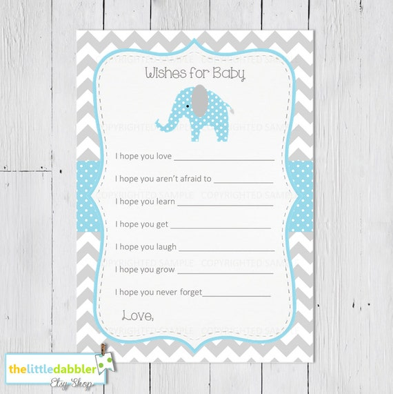 Items Similar To Printable Wishes For Baby Shower Game