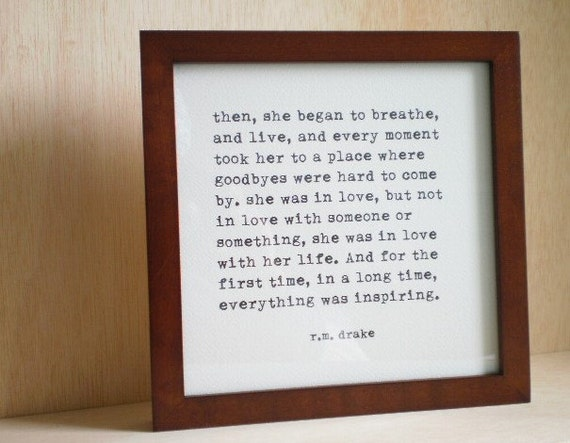 Wall Decor Framed Quotes : Custom framed quote valentines day gifts for by