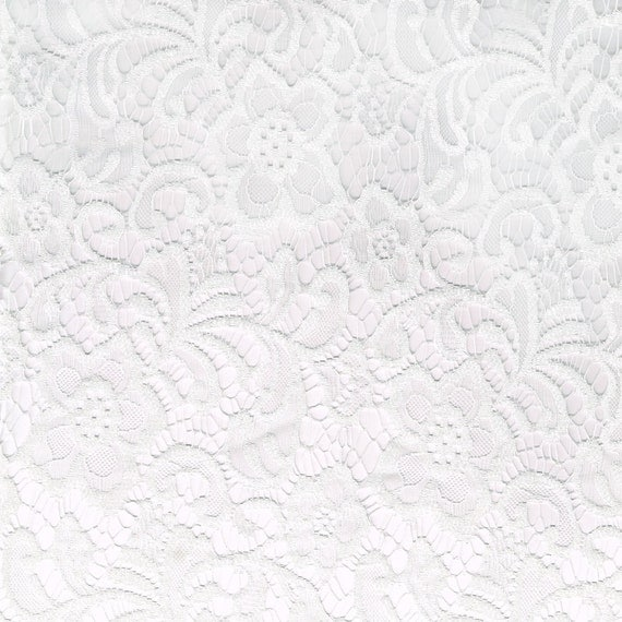 Off white wedding floral lace fabric by the yard or wholesale for Cheap fabric by the yard