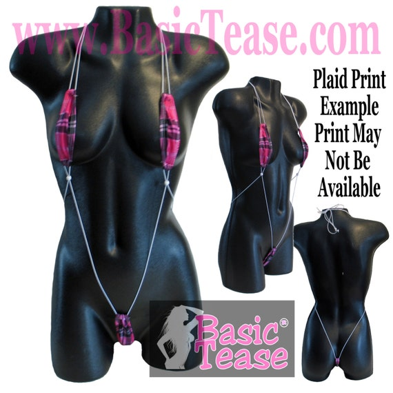 Monokini Stripper Bikini for Exotic Dancers with Adjustable Cord and Bead For a Perfect Fit