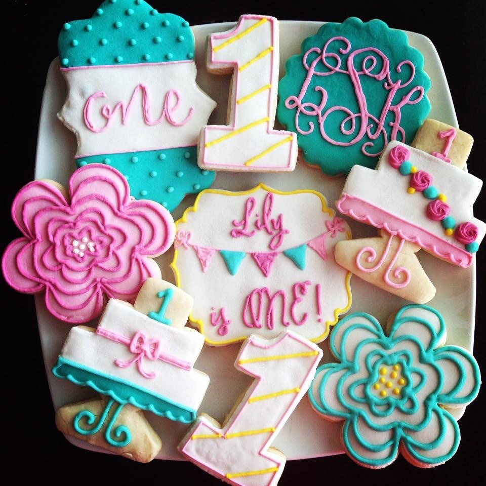 Girly Birthday Cookies / One Dozen