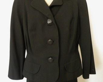 Hand Tailored Black Suit