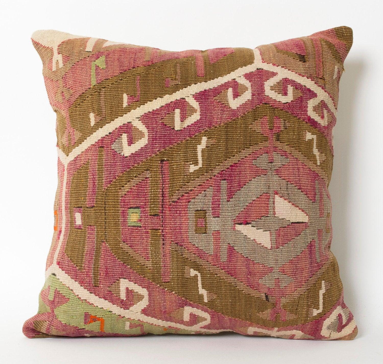 Turkish Kilim Pillow Home Decor Decorative Pillow Home: Kilim Pillow Decorative Pillow Home Decor Pastel Kilim