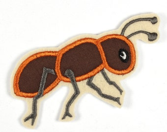 Patch applique iron-on patches Ant 11 x 5cm | 4.33 x 1.97 inches