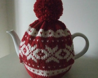 "Knitting Pattern for ""Nordic"" Tea Cosy"
