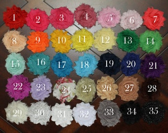 You pick 7 - Shabby Hair Clip Set, Flower Hair Clips, Hair Clip