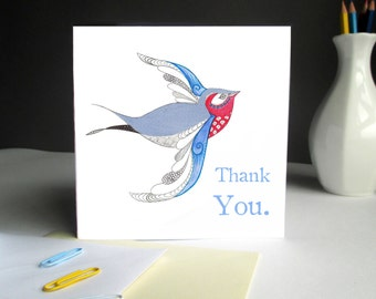 Swallow Thank you Card