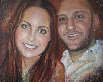 CUSTOM portrait painting, wedding portrait, child adult portrait on canvas, family portrait, Acrylic painting, custom portrait from photo