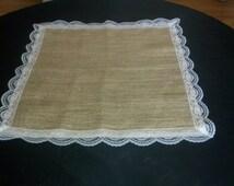 Burlap & Lace Table Squares