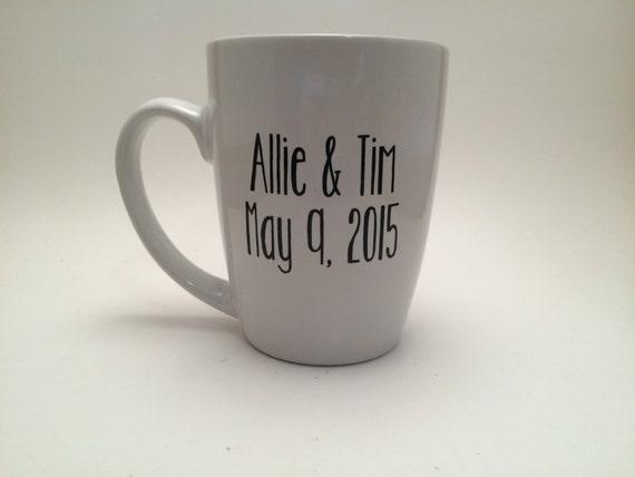 Personalized Coffee Mugs Wedding Gift : Personalized Coffee Mug, Engagement Gift, Bridal Shower Gift, Wedding ...