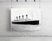 "24"" x 18"" - Vintage Photography, Large Print of Titanic"