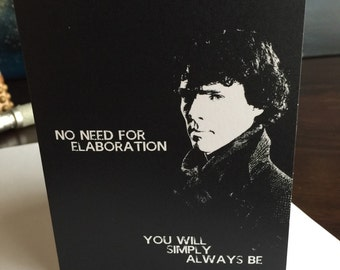 BBC's Sherlock and The Woman Anniversary/Valentine's Day/I Love you Card