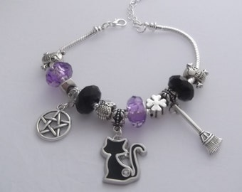 Dunns-jewels Lucky Black Cat Charm Bracelet
