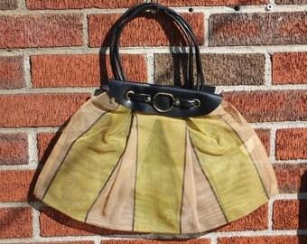 "Mid Century Italian Designer Martin ""Gaybag"" Plastic Mesh Summer Tote"