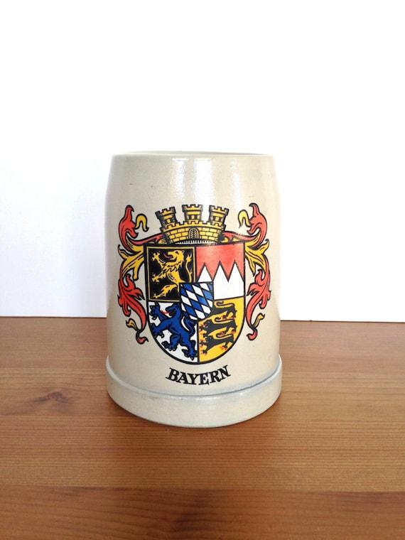 Bavaria mug vintage Bayern coat of arms made in West Germany bar decor