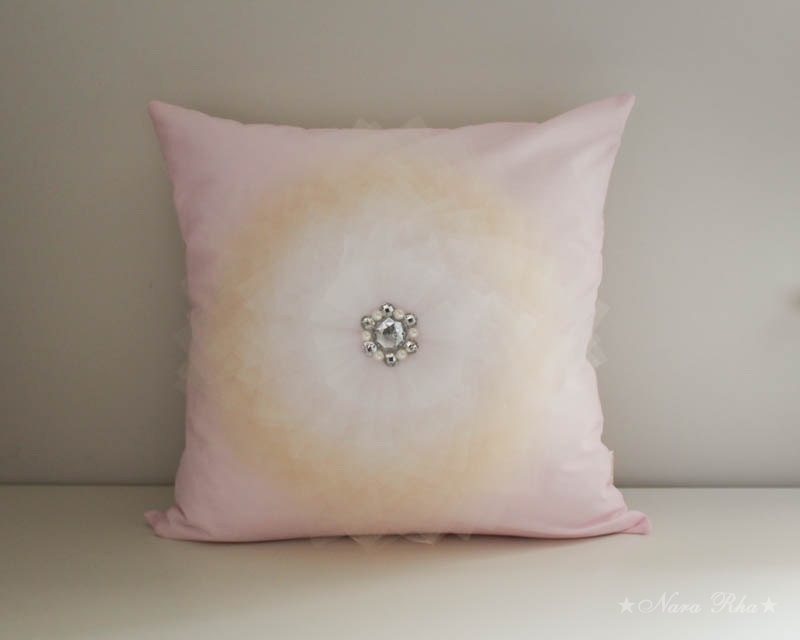 Pink Decorative Pillow Covers : Nursery Pillow Cover Pink Pillow Decorative Pillow by NaraRha