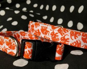 Dog collar - Small dog Collar - you pick the fabric print
