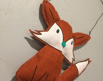 Stuffed Fox Hanging Wall Art
