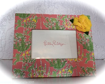 Lilly Pulitzer Monkey Print Picture Frame Original!