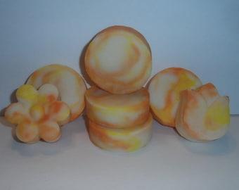 Linen Soap - Cotton Soap - Summer Cotton Soap - Rose Soap - Ylang Ylang Cotton Soap - Lemon Mandarin Cotton Soap