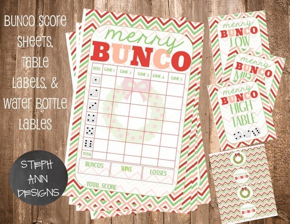 Candid image intended for bunco score sheets free printable