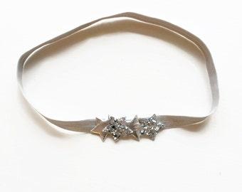 star headband - silver Star Headband, Glitter Star Headband, Baby Star Headband, Infant Headband, Baby Headband, Star Halo, Star Accessory,