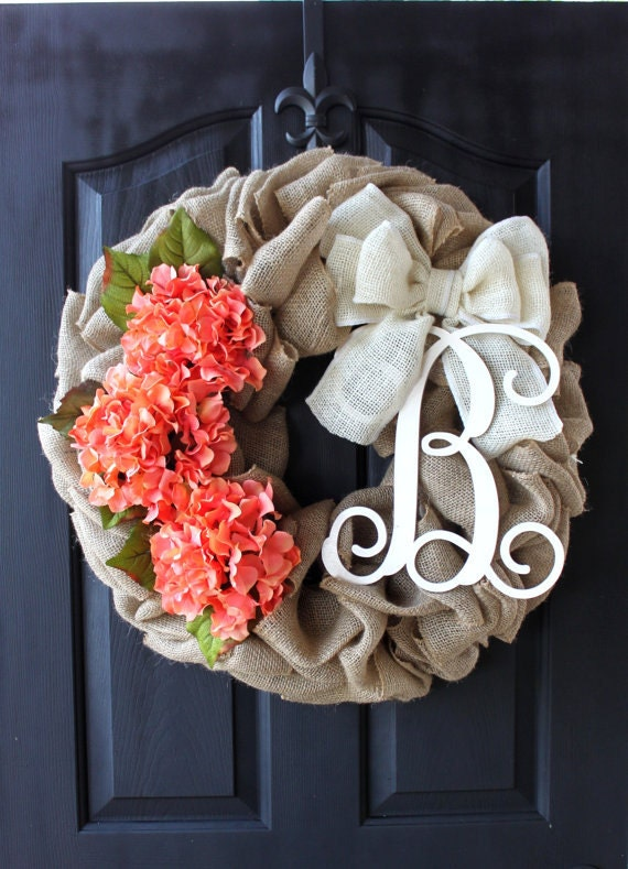 Burlap Wreaths Spring Wreath Mothers Day Gift By Oursentiments