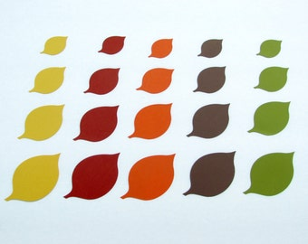 Paper  leaf die cuts / Fall,Thanksgiving, Table Decor Die Cut Leaves/ 50 pc/ fall colors