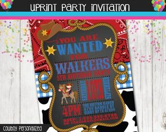 Wild West Cowboy Invitation - Birthday Party - Custom - Printable