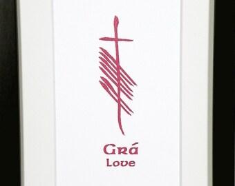 Love (Grá) Ogham 5x7 Print