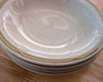 "Autumn Blossom by Crown Manor Stoneware Dessert Bowls Set of 4--- 5.50"""