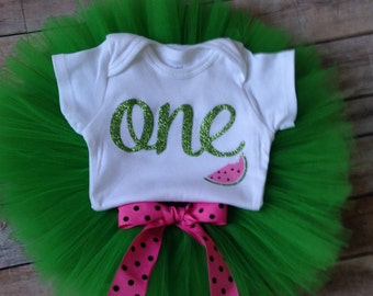 Watermelon First Birthday Outfit |1st Birthday Girl Outfit Watermelon | Baby Girls First Birthday Outfit | Summer Birthday