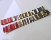 "Sterling Silver Red-tipped ""Matchstick"" Dangles  HM15-019E"